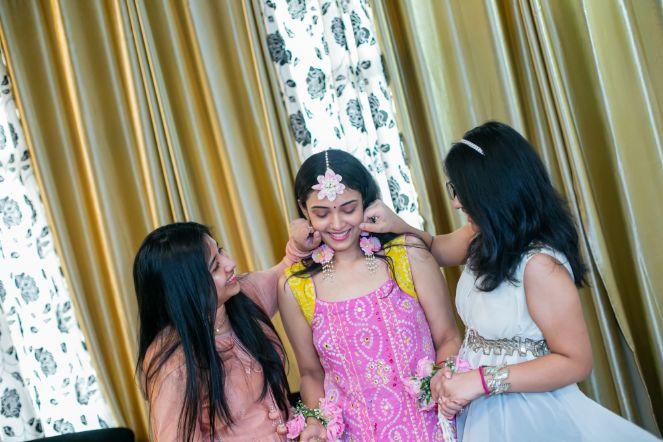 indian bridesmaid , bridesmaids , indian couple , wittyvows , weddings , indian bride , bridal lehenga , Lockdown wedding | intimate wedding | Wedding at home