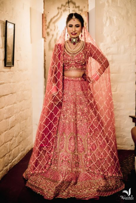 indian wedding , indian bride , lehenga , chooda , real weddings , pink chooda , wedding blog
