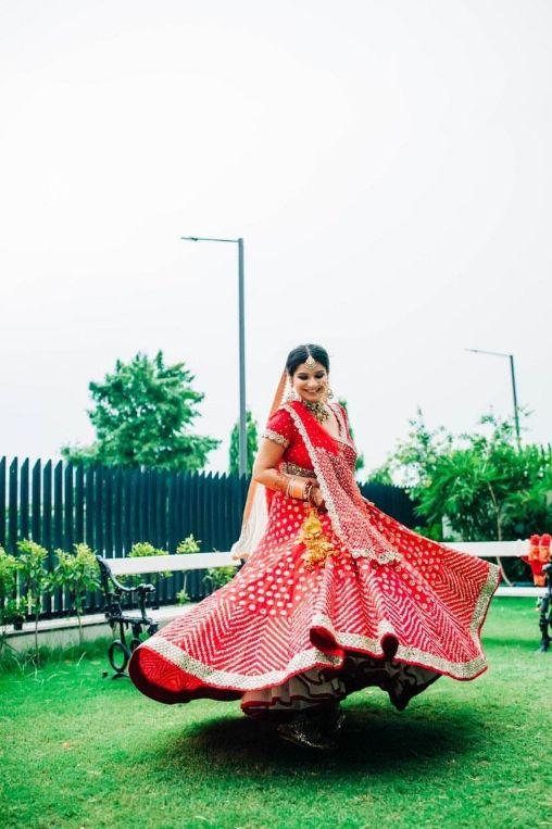 twirling , red lehenga , Abhinav mishra , bridal , indian bride , indian wedding , lockdown wedding   henna design   haldi outfit