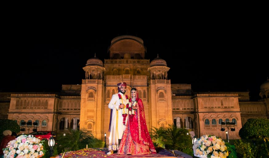 yellow lehenga , destination wedding | wedding In Rajasthan | yellow lehenga | lehenga for sangeet | mirror work | Jaimala moment
