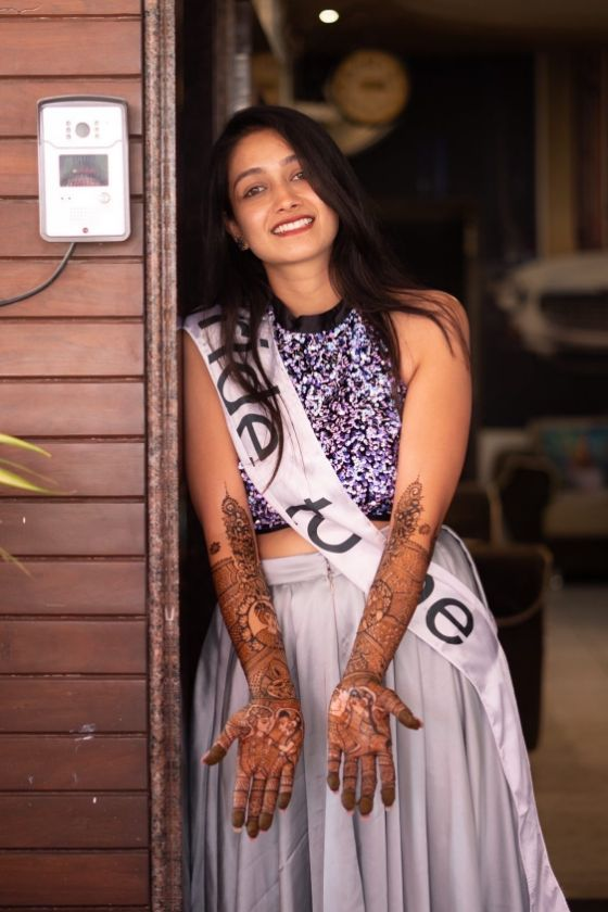 mehendi outfit , bride to be