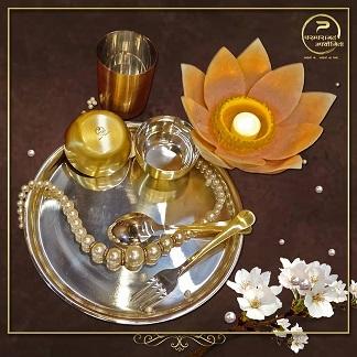 Wedding dinnerware | Brass utensils | Reusable | Indian wedding planning