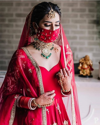 Bride in red | Bridal lehenga colors |