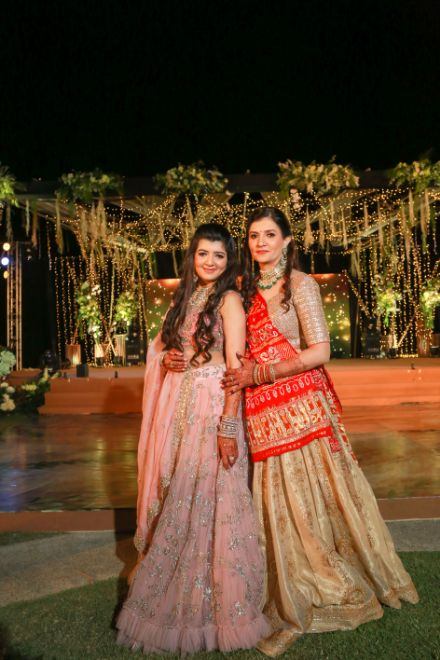 bridesmaid , mother daugter , wittyvows , gaurav gupta gown , Indian bride , weddings , big fat indian wedding , red lehenga , sabyasachi bride indian destination wedding , lakeside wedding | wedding in hua hin | bridal entry in a boat