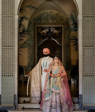 Rimple and Harpreet Narula designer lehenga | Indian weddings