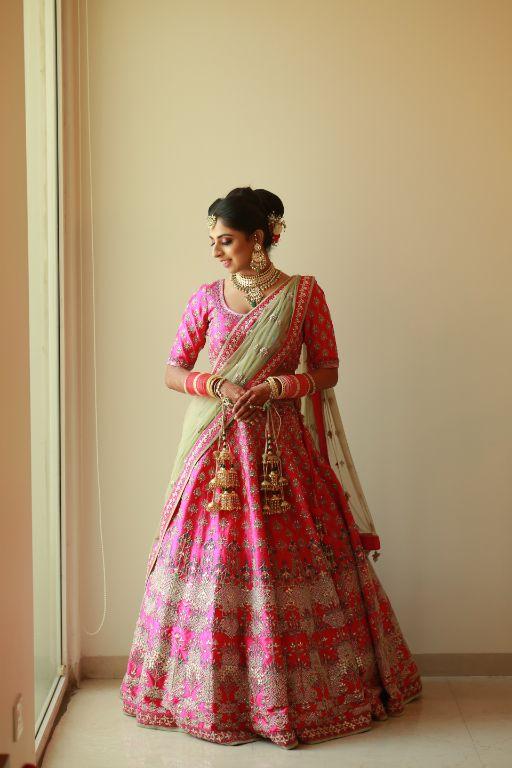 beautiful pink bridal lehenga   Pink Anita Dongre Lehenga