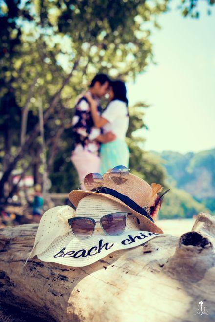 beachy vibes | sunglasses | hat | couple shoot ideas | Beach Wedding in Alibaugh