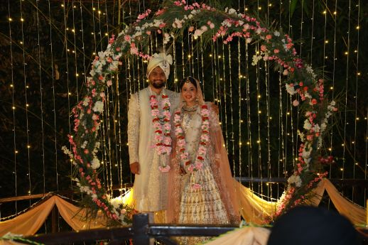 indian wedding   mandap decor   couple photography   varmala ideas   Intimate Wedding in Jim Corbett