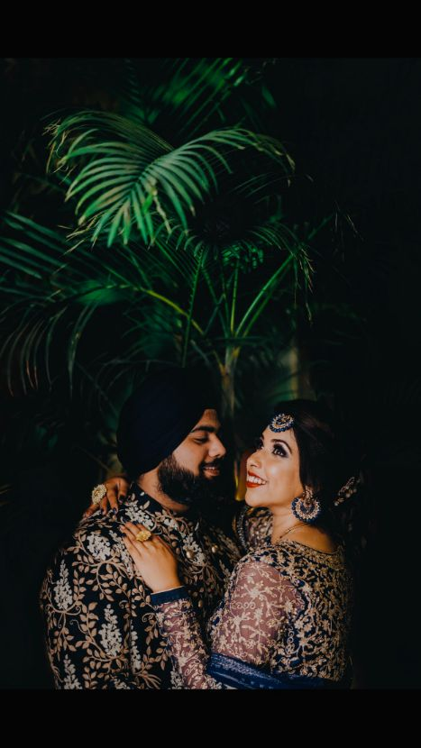 couple shoot ideas | beautiful sikh couple | Sparkling Red Gown for the Cocktail
