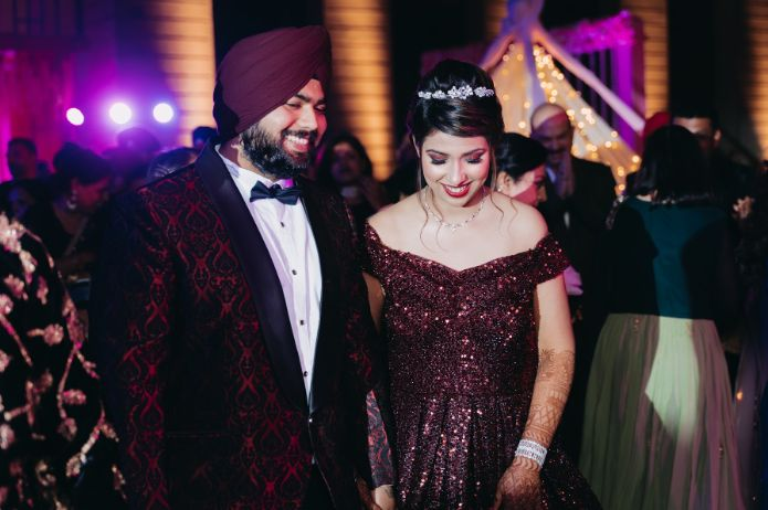 bridal gown ideas | indian wedding diaries Sparkling Red Gown for the Cocktail