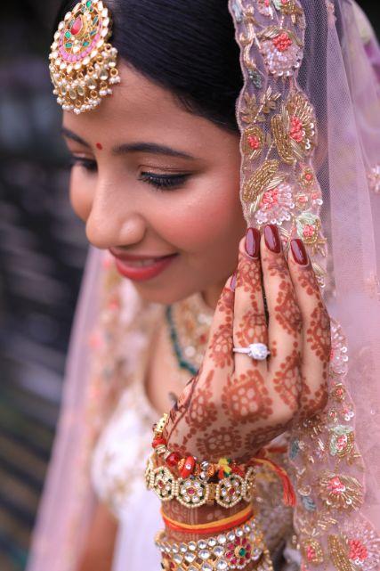 bridal photoshoot ideas | engagement ring designs | Intimate Wedding in Jim Corbett
