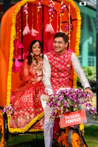 couple entry goals | indian wedding photography