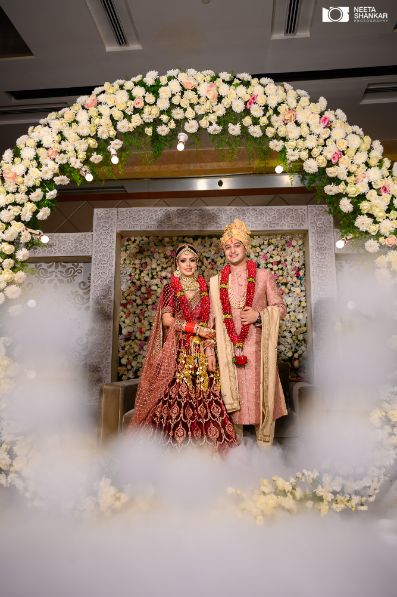 couple photography | indian wedding decor | Sabyasachi Lehenga in Maroon