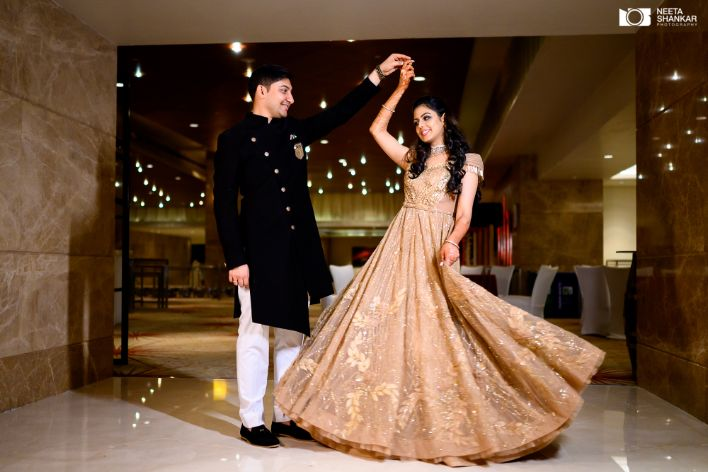 twirling couple | indian couple shoot ideas