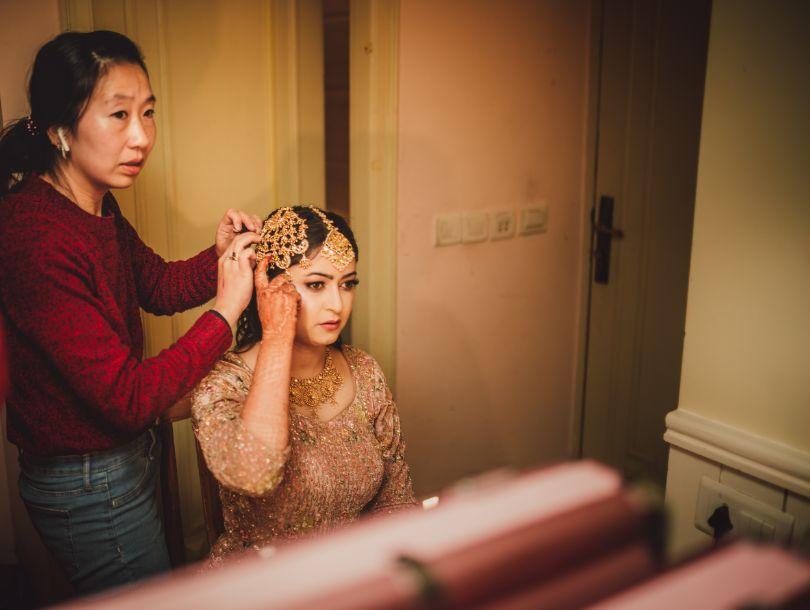 indian bride's getting ready photishoot  