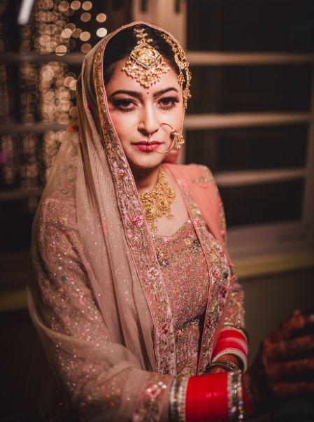 beautiful bridal portrait | indian bridal makeup |