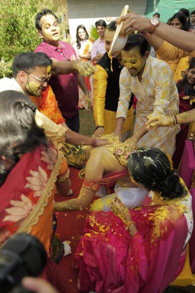 bride and groom's haldi ceremony   rituals  