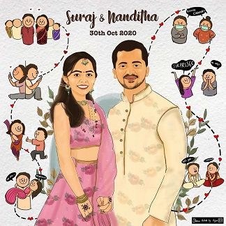 Cute e-invites for Indian wedding