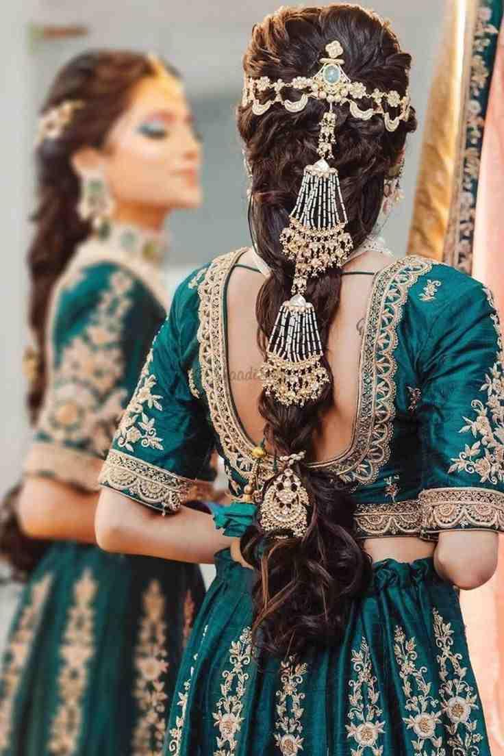 Bridal Choti | Bridal braids | Bridal Jewelry ideas