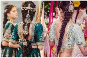 Bridal hairstyles | Bridal trends | Bridal trends 2020Choti | braids | Bridal Choti ideas | Bridal hair accessory | Hair jewellery | Bridal hair jewelry |