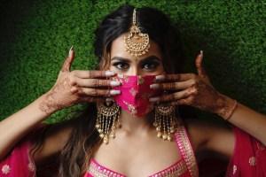 Designer masks   Covid weddings   Quarantine weddings   innovative wedding ideas