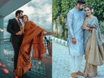 First karwa chauth look   Saree ideas