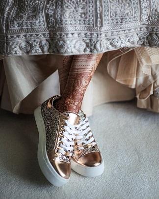 Bridal sneakers | Indian bridal trend 2020