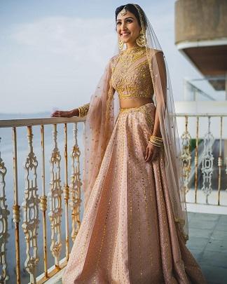 Pastel pink and golden lehenga | Bridal trend 2020 | Inspiration