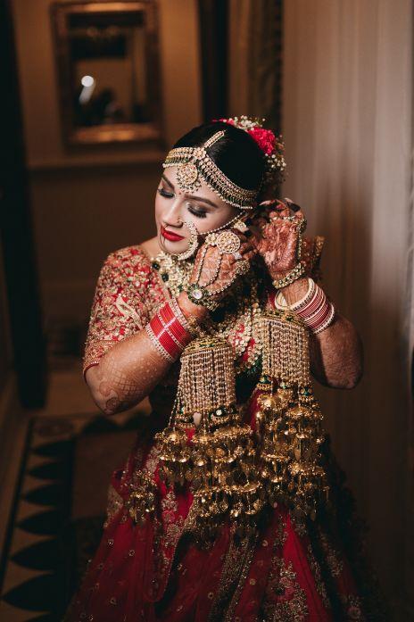 indian bridal jewllerey , red lehenga , decor ideas , wedding decor , indian bridal lehenga , bridal jewllerey , Rimple & Harpreet Sharara   Pink Sabyasachi Lehenga   Delhi Wedding