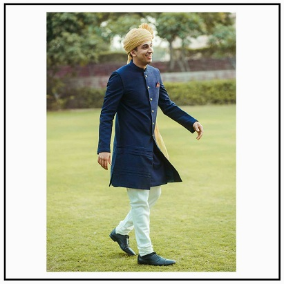 Blue Sherwani | New designs and colors for Indian grooms