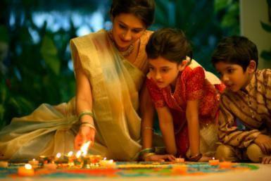 Diwali celebration with family   Diwali decoration   Diwali preparation with kids