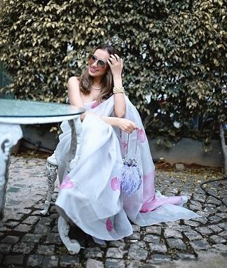 Romantic saree look | Organza saree