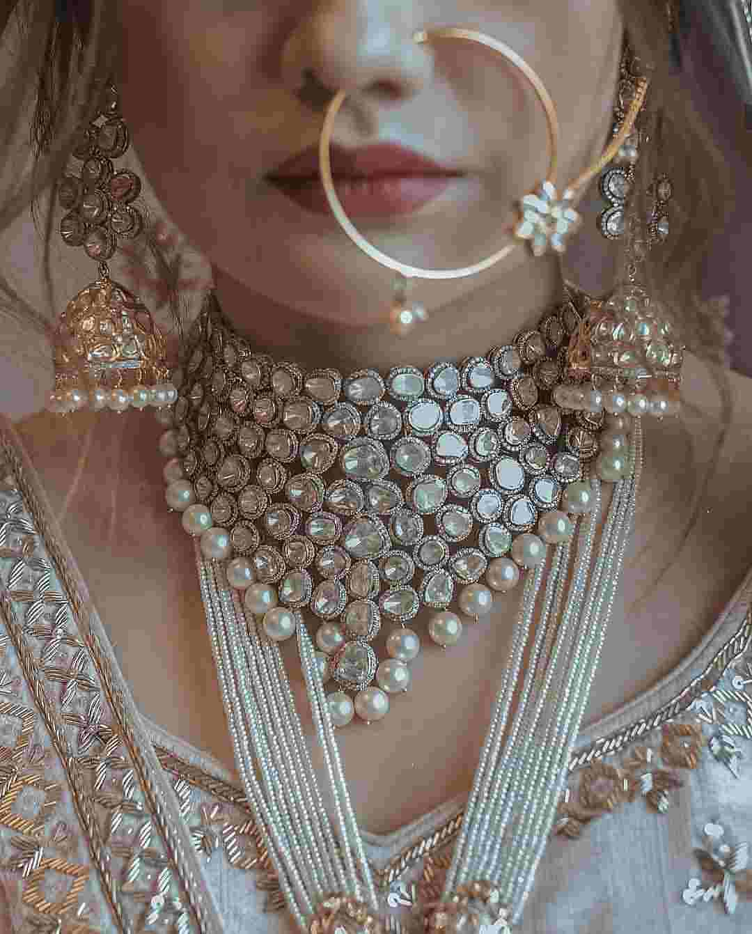 Bridal Jewelry | Bridal Naath | Nath | Bridal necklace | Bridal Jewelry
