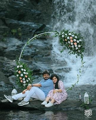 Pre wedding shoot locations | Waterfall | Fun ideas