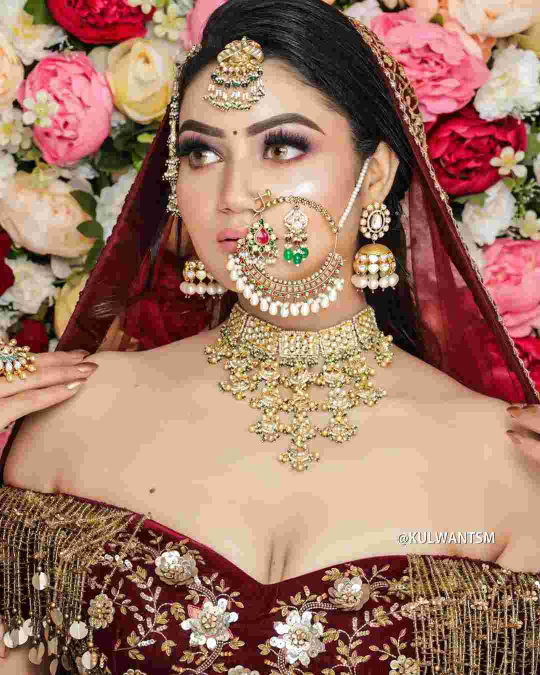 Bridal Nath | Bridal Naath | Bridal Jewelry | Bridal makeup | Bridal outfit | Wedding Jewellery