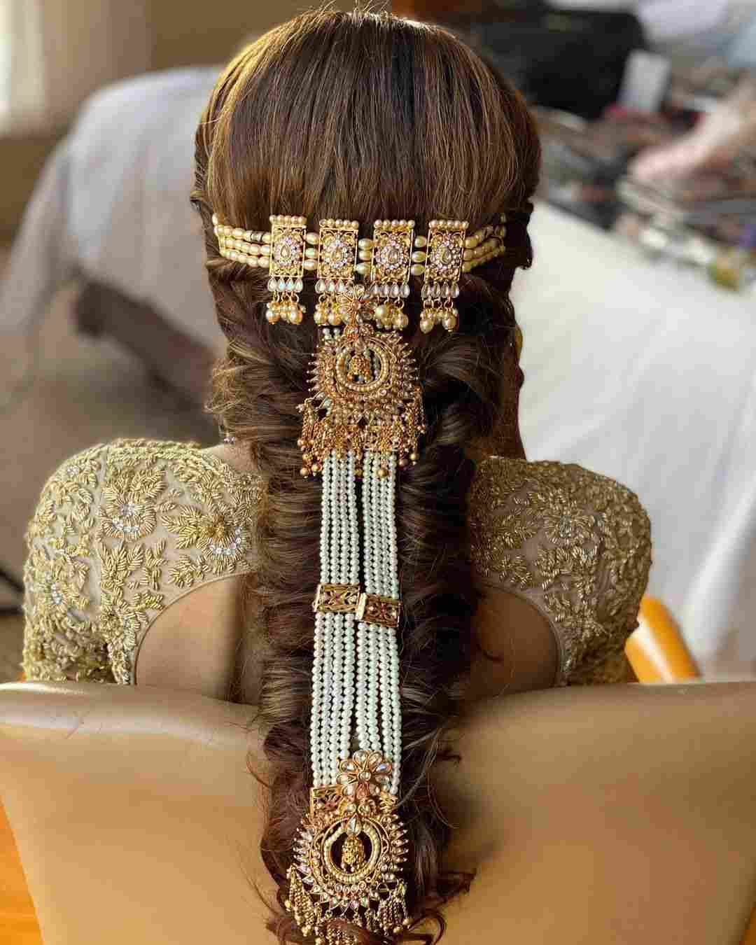 bridal hairstyle | bridal jewellery