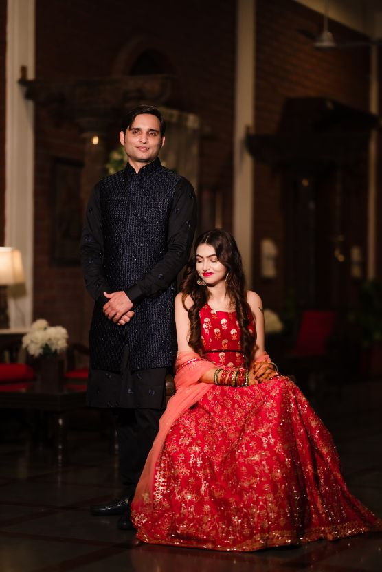indian wedding , cross cultural wedding | wedding in hyderabad, red lehenga , bridal outfits