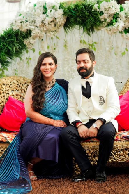real indian wedding 2020 , indian wedding , indian bride , wittyvows , wedding blog , gold wedding lehenga , mathapatti, Nath