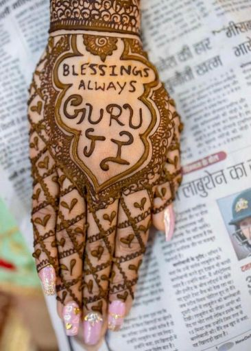 mehendi with blessings