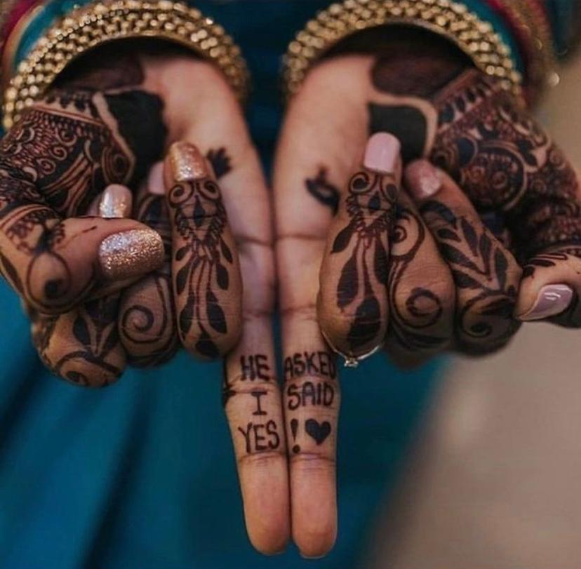 mehendi with proposal story