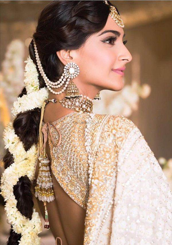 Trending hairstyles with gajras