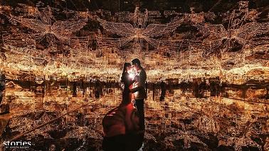 Wedding Party | Wedding reception | Lights | Love and light | Couple portrait