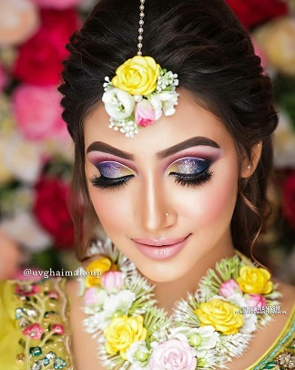 Colouful eye makeup | Indian bridal look | Colour pop