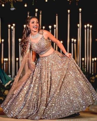 Golden lehenga | Indian bridal wear