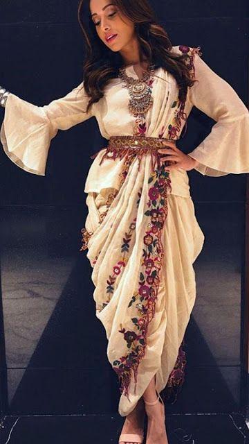 saree styles | dhoti saree