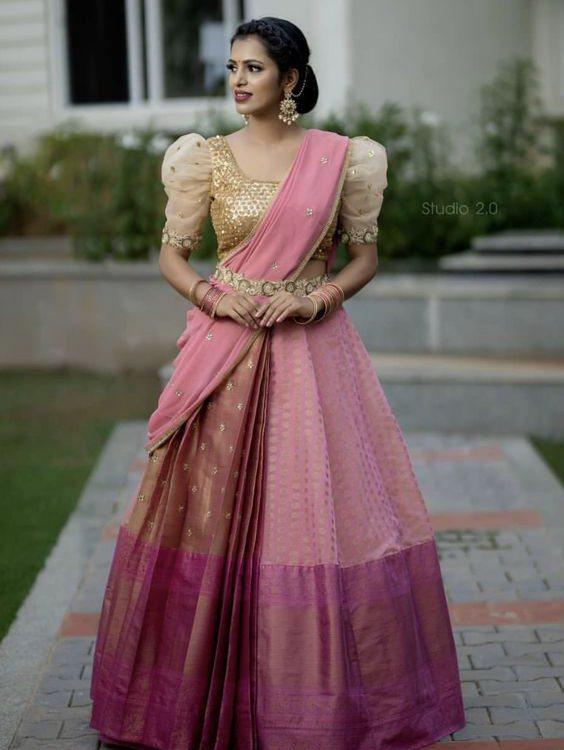 saree draping ideas | lehenga sarees