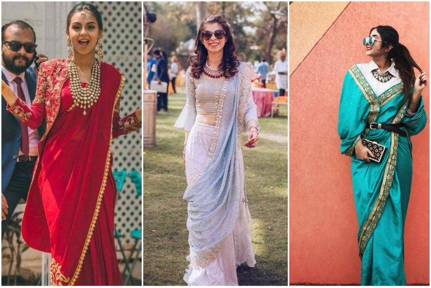sister of the bride | bridesmaids saree| bridesmaids outfit |saree styles | saree draping ideas