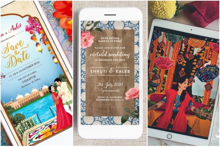 wedding invitations   E-invites   wedding trends   virtual weddings