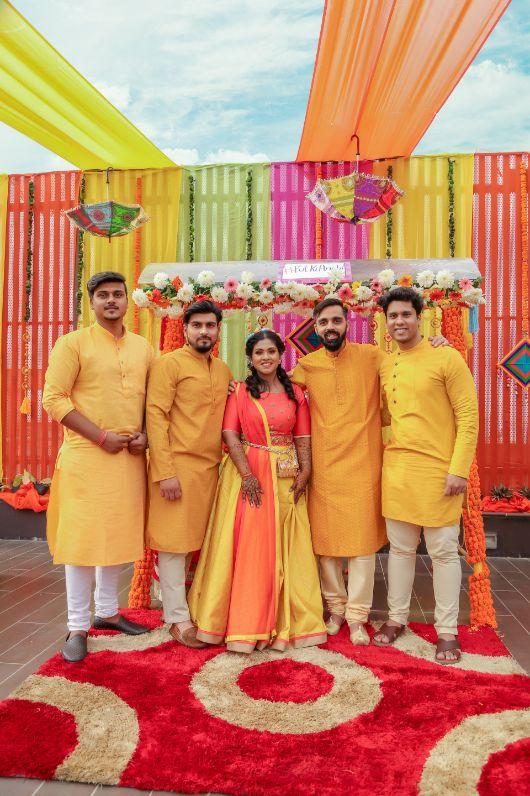 real bridal lehenga , real indian bride , lehenga , Pastel choker | Destination wedding