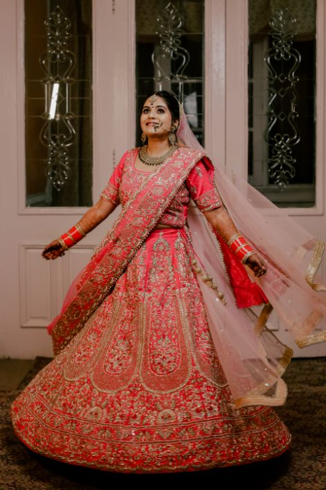 real indian bride , indian wedding , lehenga , red lehenga , SEO - destination wedding | Wedding in the hills